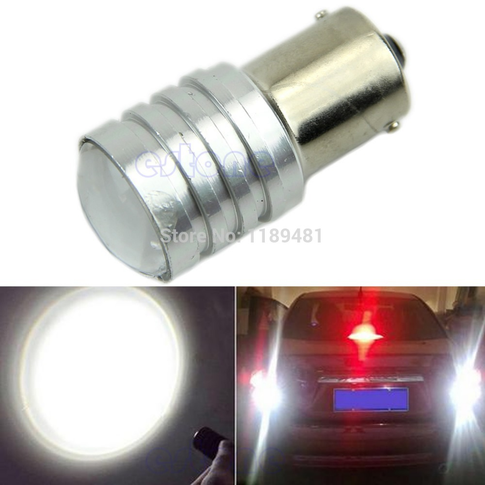 F85 Free Shipping New White 1156 BA15S P21W High Power CREE Q5 LED Car Bulb Reverse Light 12V(China (Mainland))