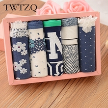 Buy TWTZQ 5Pcs/Lot Hot Sell Sexy Female Underwear Women's Cotton Pocket Panties Floral Underpants Girls Knickers Panty Briefs 3LH016 for $6.53 in AliExpress store