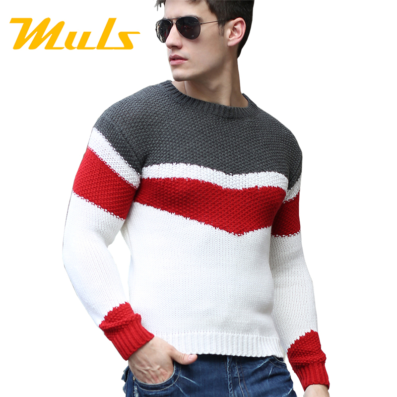 Swiss army sweater pullover mens colorful jumpers fashion for Mens red wool shirt