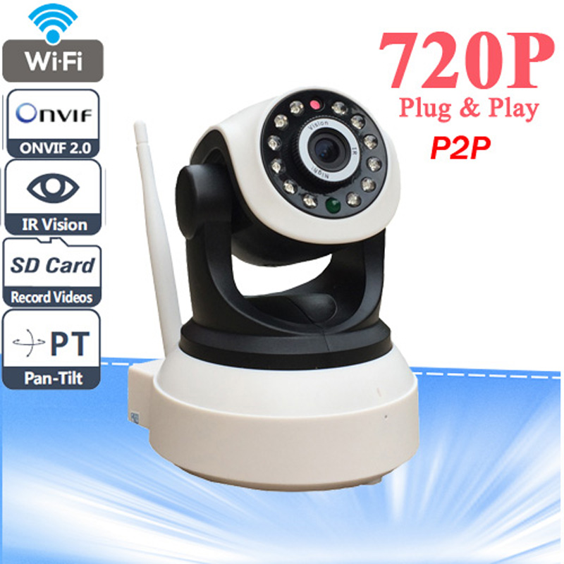 High Quality HD 720P Wireless IP Camera Wifi Night Vision Camera IP Network Camera CCTV WIFI P2P Onvif IP Camera(China (Mainland))