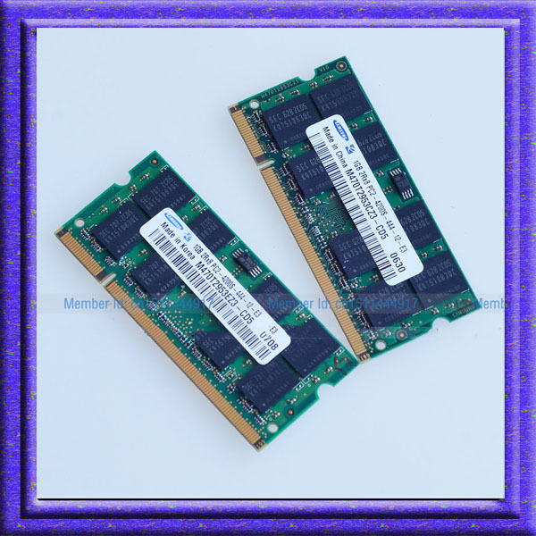 2GB 2x1GB PC2 4200 DDR2 533 533Mhz SO-DIMM 200 PIN Laptop ddr2 2G Notebook RAM Memory Free Shipping!!!(China (Mainland))