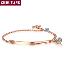 Top Quality ZYH195 OL Style CZ Rose Gold Plated Bracelet Jewelry Austrian Crystal Wholesale(China (Mainland))