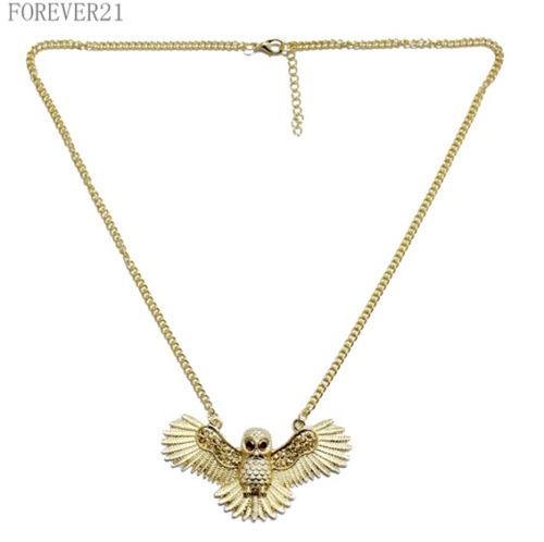 OWL Crew Designer Inspired 18K Gold V-neck for women J.e.w.e.l Weekday Chevron Triangle Wearstler Necklace(China (Mainland))