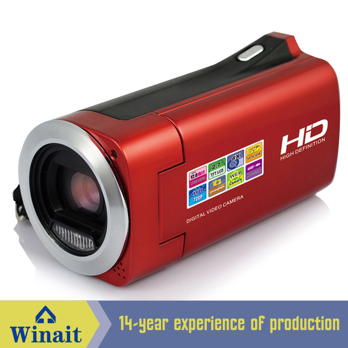 "2.7"" TFT LCD 16MP CMOS Sensor Digital Camera HD 720P Digital Video Camera 4x Digital mini DV Camcorders DV DVR UK Plug"