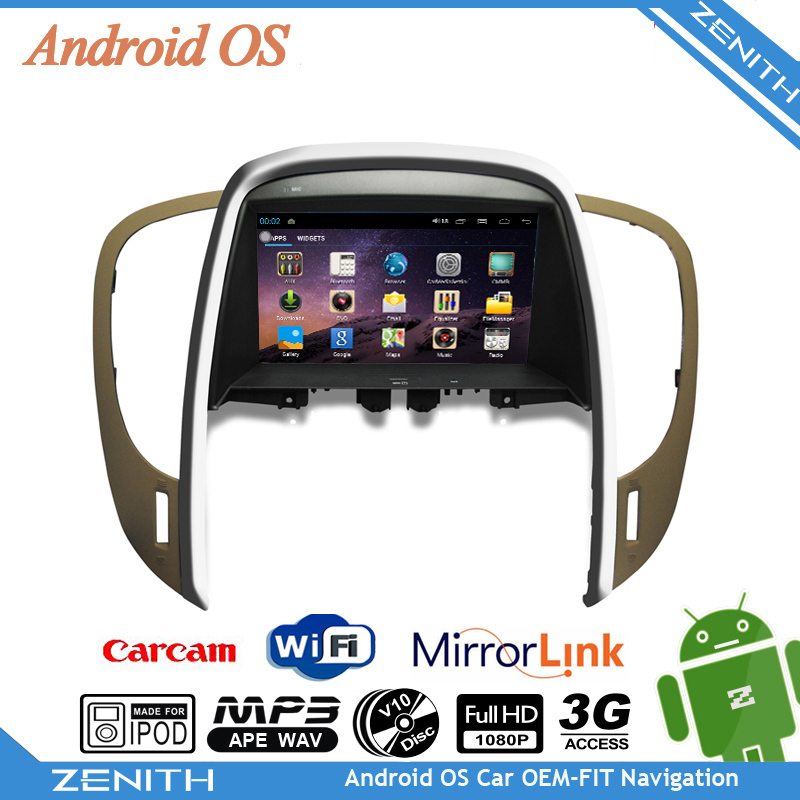 Hot sales Android Capacitive Android OS car stereo multimedia dvd B.uick Lacros.e 2009-2012 3G wifi Dual Core SWC kd4 kd7(Hong Kong)