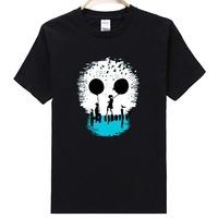 Free Shipping K006 Short Sleeve O-Neck 100%Cotton Wholesale Fashion Men's Skull T Shirt Many Colors Available