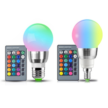 Buy Dimmable E27 E14 85-265V 110V 220V RGB LED bulb LED Night Light Soptlight stage Lamp / 24key remote spot light Home lighting for $1.50 in AliExpress store