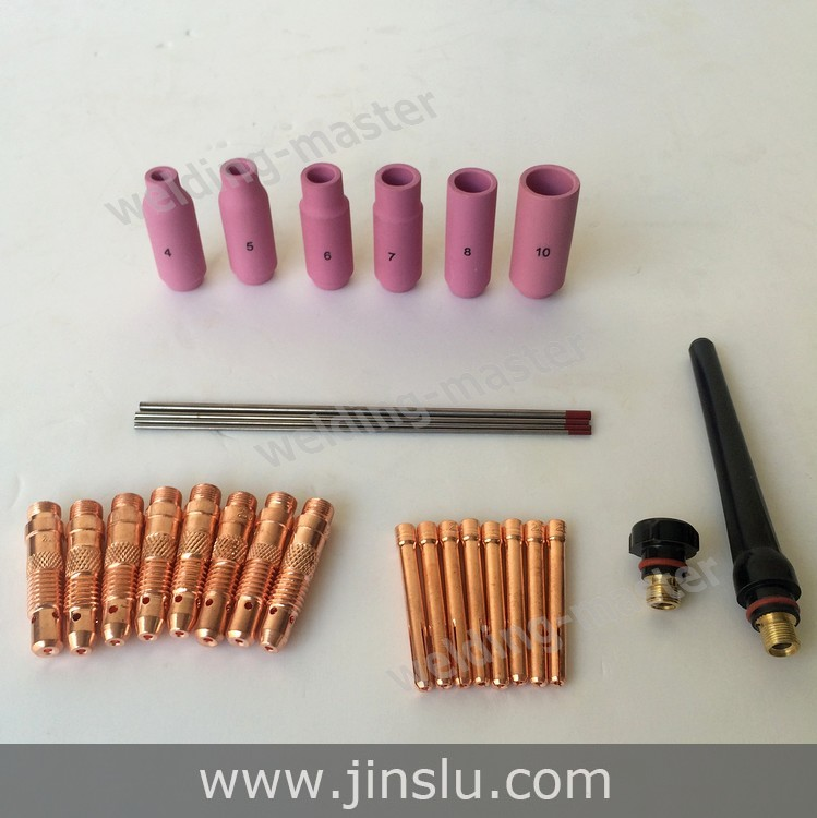 Free Shipping WP SR 17 18 26 Series TIG Welding Torch Consumables Accessories Ceramic Nozzle 4#5#6#7#8#10#12# 70PCS(China (Mainland))