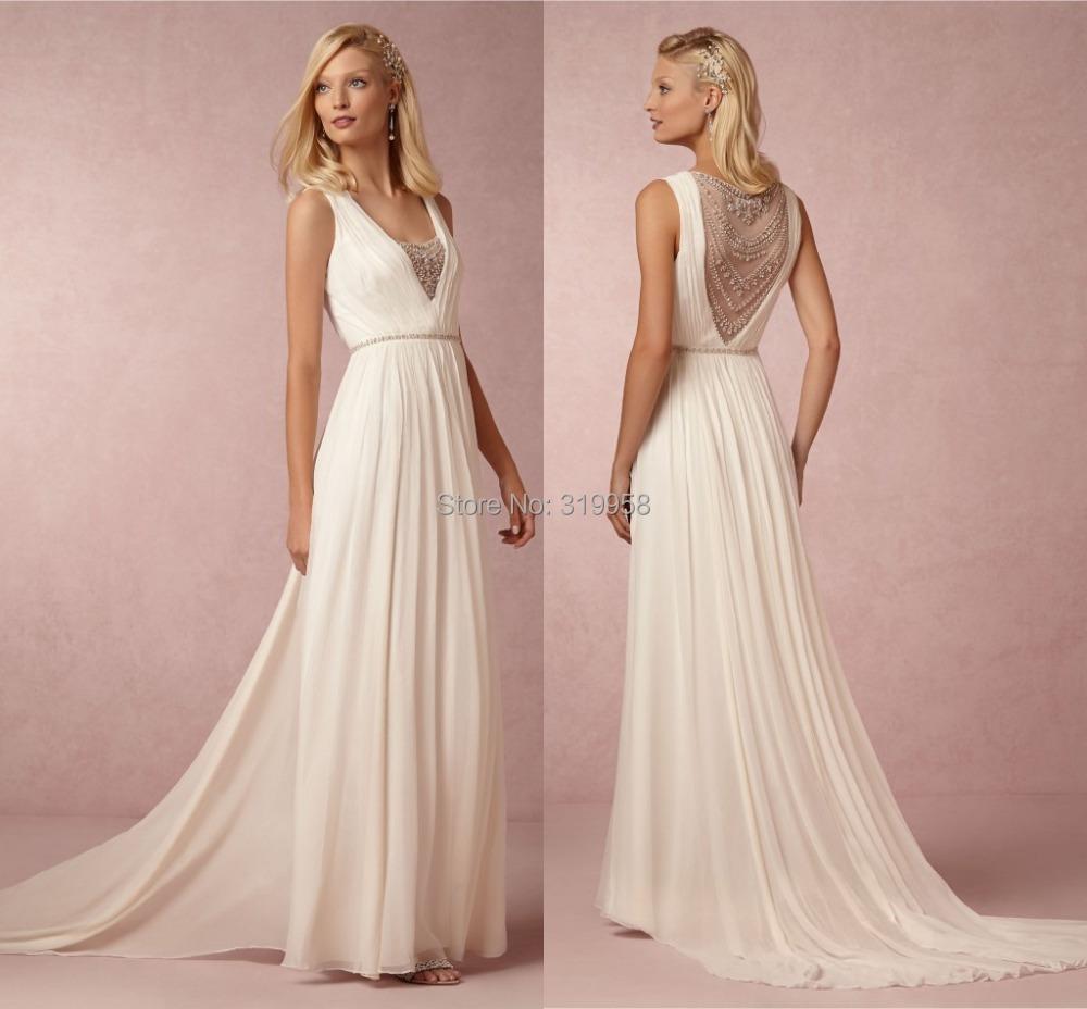 Top Luxury Wedding Dress : Wedding dresses beaded top luxury romantic summer white dress
