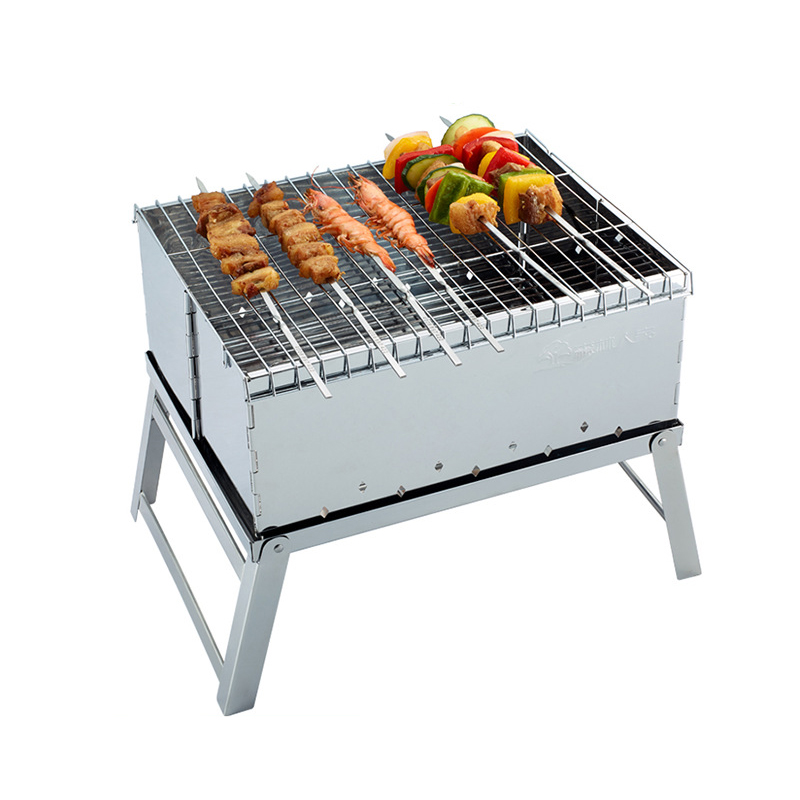 High Quality Stainless Steel Mini BBQ Grill Charcoal Grill Outdoor Portable Folding Barbecue, BBQ Grills-002(China (Mainland))
