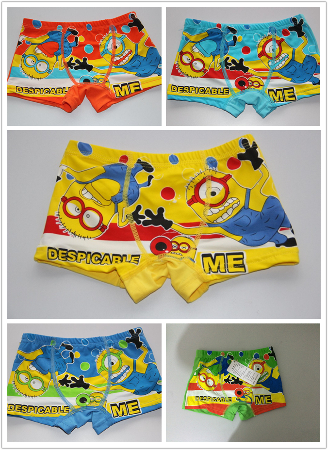 New Despicable Me/Minion baby boys underwear kids pants panties children's underwear briefs breathable antibacterial 5pcs/lot(China (Mainland))