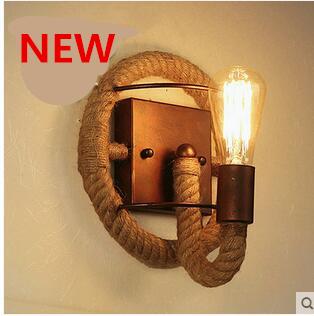 BD080 creative Country style elegant hemp cord wall lamp - U Design Home store