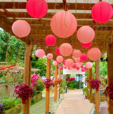 10pcs/Lot 8'' 20cm Valentine's Day Chinese Paper Lantern Round Wedding Lantern Birthday Party Holiday Decorations Kids Lantern(China (Mainland))