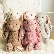 2017 New Arrived Simulation Rabbit Baby kids dolls Lifelike Rabbit Plush dolls & stuffed toys Kids Lovely Holiday Gifts WW124(China (Mainland))