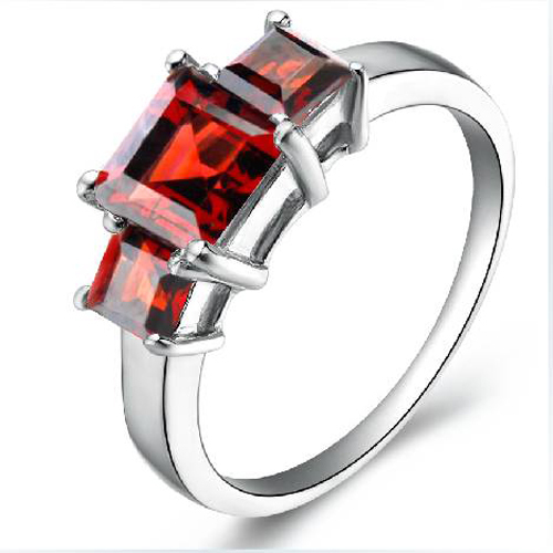 Qi Xuan_Elegant Natural Garnet Stones Fashion Woman Rings_S925 Solid Sliver Red Finger Rings_Manufacturer Directly Sales(China (Mainland))