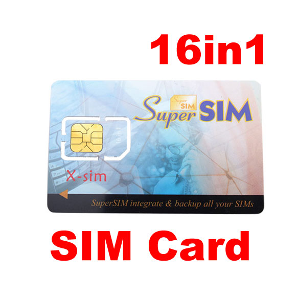 16 in 1 Max SIM Cell Phone Magic Super Card Backup DY-fly(China (Mainland))