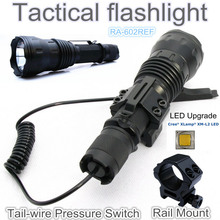 RA-602REF[TTWS] CREE XM L2 U2 COOL WARM WHITE torch Tactical Flashlight power by 18650,with Rail Mount,Tail-wire Pressure Switch(China (Mainland))
