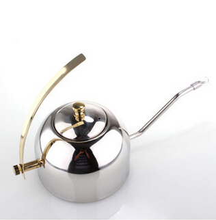 Coffee pot high quality Stainless Pitcher semicircle Long-billed teapot Built-in filter hand coffee maker (BH-37)(China (Mainland))