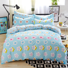 3D Cotton Bedding sets/Bed set/Bed clothes Linen 4 pcs (duvet cover+flat sheet+2pillowcase) Queen size Bed Cover Bed clothes(China (Mainland))