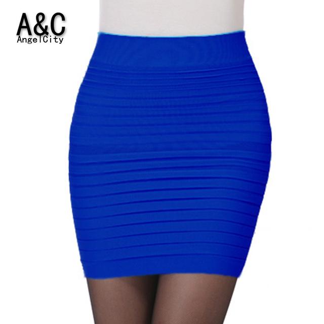 Новинка 2015 офис леди юбка лето женщины высокой талией цвета конфеты эластичный плиссированные пр мини короткие юбки бесплатная доставка 49851