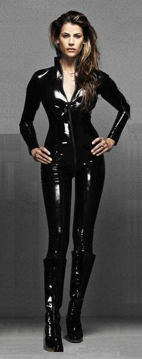 Free-PP-black-womens-pvc-leather-look-fo