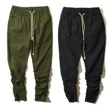 New 2016 Black & Green Harem Casual Skinny Zipper botton Sweatpants Hip Hop Trousers Pants Men harlan Joggers(China (Mainland))