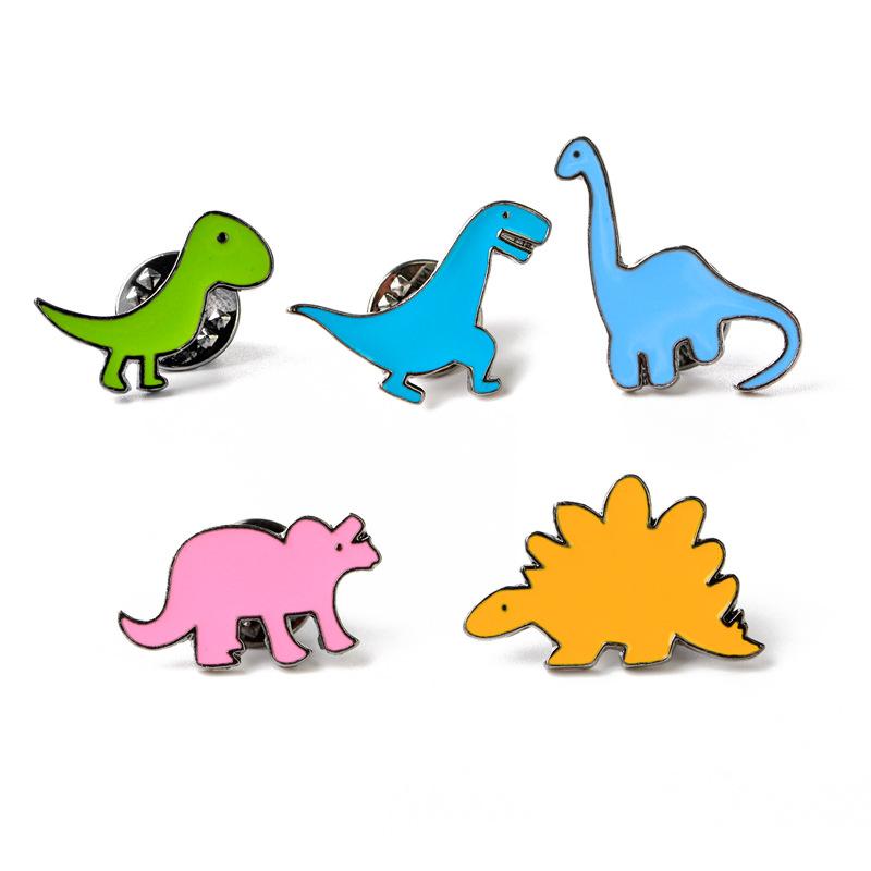 Pin /émail Mignon Dinosaure Animal /épinglette pour V/êtements Sacs /à Dos Vestes Chapeau Bijoux Accessoires De Bricolage
