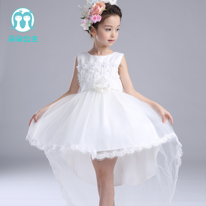Wholesale children's boutique clothing sleeveless summer evening party baby dress modern for 100-160cm height(China (Mainland))