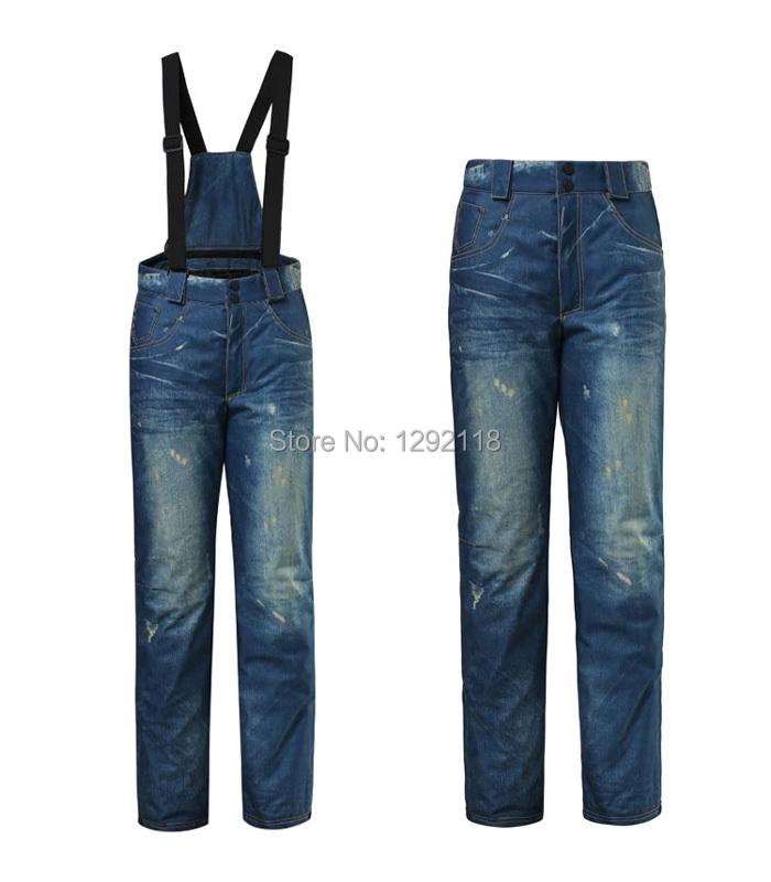 14/15 Winter new fashion snowboard jeans ski pants jean denim skiing & snowboarding pants keep warm outdoor pantalones esqui(China (Mainland))