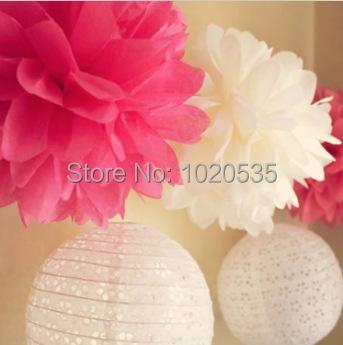 8 20cm 500pcs lot seidenpapier pompons papierblumen ball neue jahr dekorationen und. Black Bedroom Furniture Sets. Home Design Ideas
