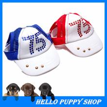 329 Pet Hat Dog Headdress Pet Product Cute Fashion Dog Supplies Diamond Caps Sun Hats Baseball Caps Size Adjustable