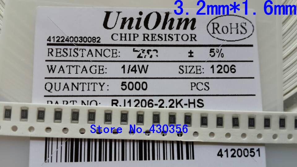 100pcs/lot SMD Chip Resistor 1206 10K 10K ohm 5% Free shippng(China (Mainland))