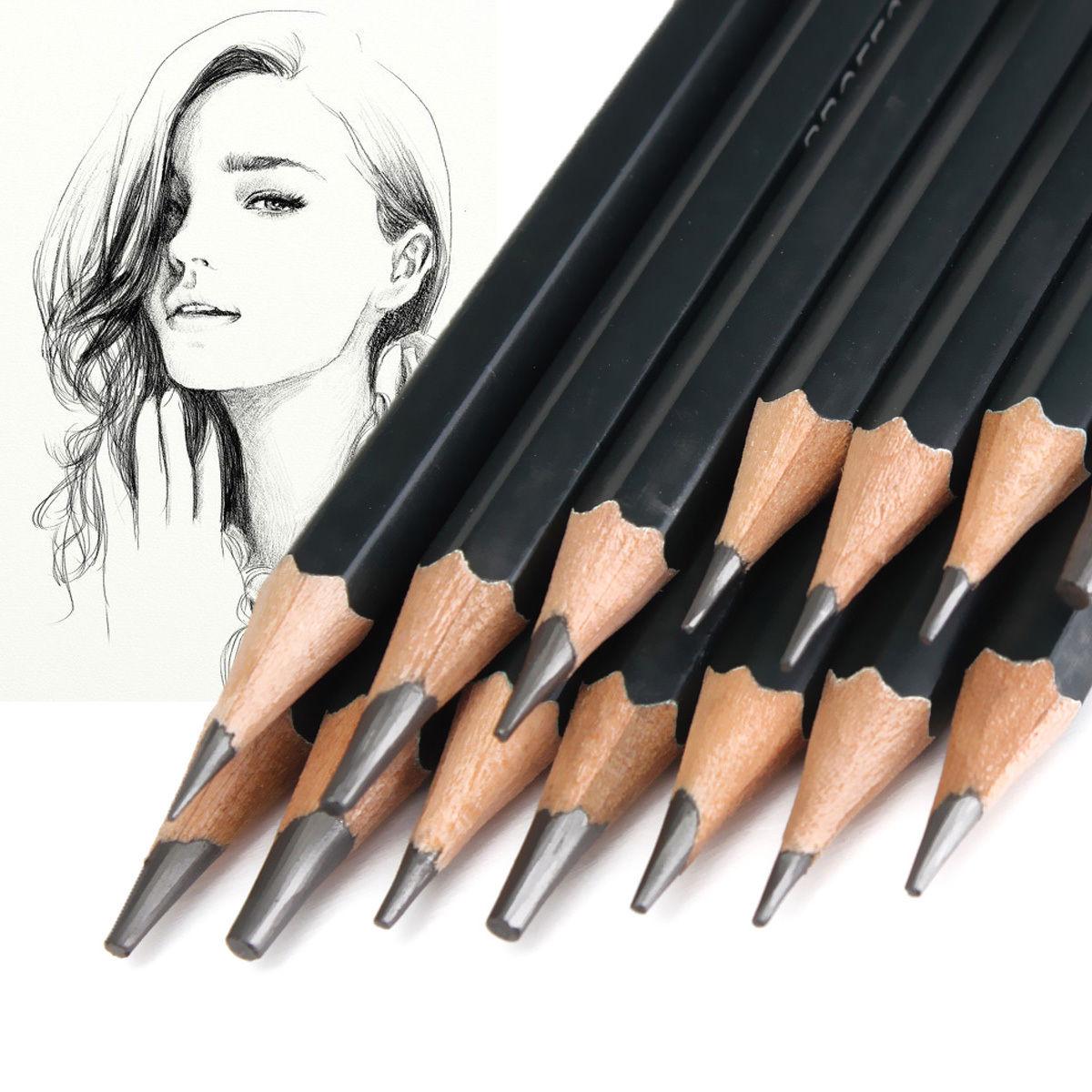 Гаджет  Set Of 14 Sketch Art Drawing Pencil 12B 10B 8B 7B 6B 5B 4B 3B 2B 1B HB 2H 4H 6H None Офисные и Школьные принадлежности