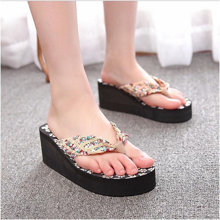 2015 new style fresh bohemia summer slipper summer