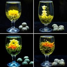 4 Balls Different Handmade Blooming Flower Green Tea Home Wedding Gift  1ON6