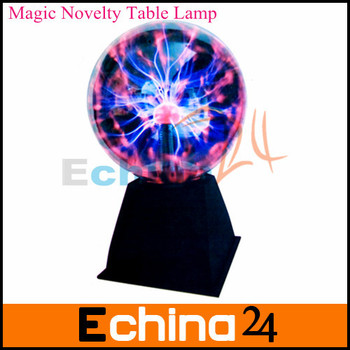 US/Euro Adapter High Quality 6 inch Magic Novelty Table Lamp Sound Motion Plasma Nebula Ball Free Shipping
