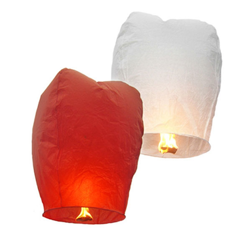 10 Pcs/ set Paper Chineses Kongming Lantern Flying Sky Lantern Wishing Lamp for Wedding Party - Assorted Color(China (Mainland))