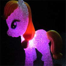 led colorful lights decorative lamps cartoon pony toy doll night light for children , baby , Kids free shipping