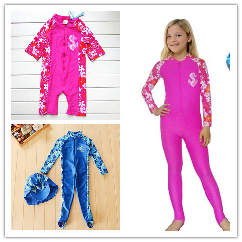 summer brand kids girls UPF 50+ sun protection one piece Rashguard Swimsuit diving suit swimwear<br><br>Aliexpress