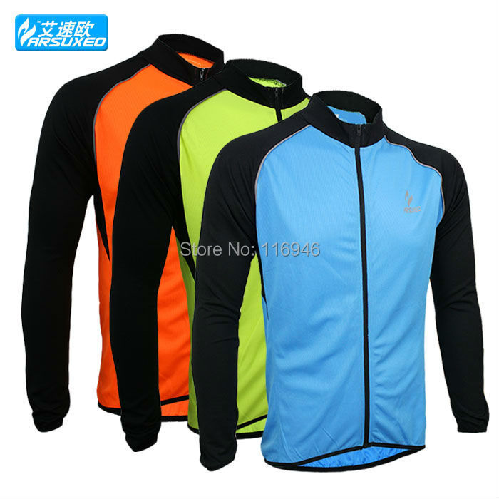 2015 arsuxeo spring summer cycling bike bicycle running long sleeves jersey shirts wear top clothes 6020 - Bella Sports Mall store