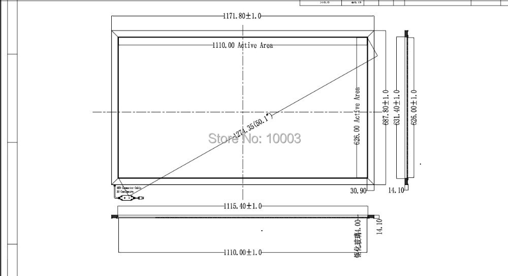 2015 Touchscreen Monitor Hot Selling 10 Real Touch Points 50 Ir Multi Frame Screen Panel/frame Without Glass 16:9 Format Minitor(China (Mainland))