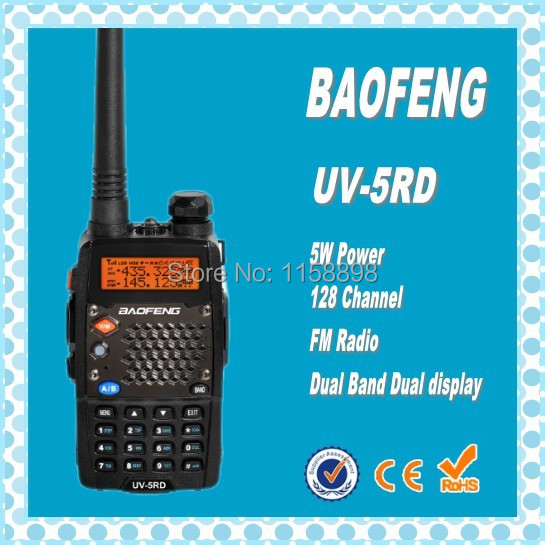 DHL Freeshipping+10pcs 2014 New Baofeng UV-5RD Dual-Band 5W VHF/UHF Handheld Interphone FM Ham Two-way Radio 10km Walkie Talkie(China (Mainland))