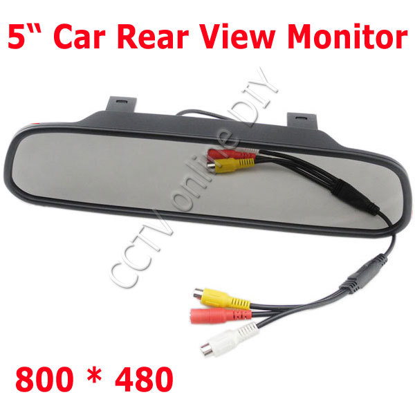 5 LCD Car Rear View Mirror Monitor HD 800*480 2CH Video wtih Menu Button Auto Power ON/OFF<br><br>Aliexpress