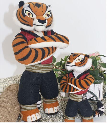 Plush tiger Kung Fu Panda 3 Plush Stuffed Toys 30cm Baby Dolls Cartoon Animal Toys for Child Birthday Gift mty417(China (Mainland))