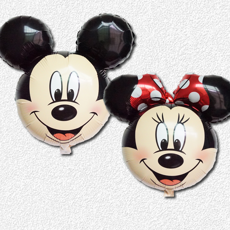 2pcs/lots Mickey minnie foil printer balloons cartoon Mickey Minnie aluminum balloons party balloons children's toys(China (Mainland))