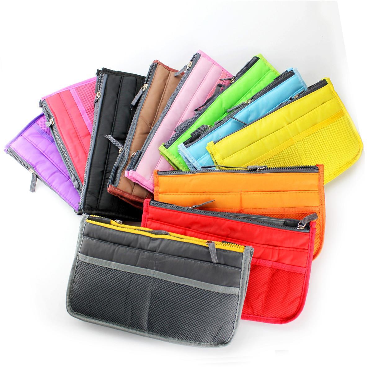 שקית בתוך שקית,רוכסן כפול נייד רב תכליתיים נסיעות כיסים תיק שקית אחסון,Fadish נסיעות קוסמטיקה, איפור, לשטוף את התיק