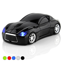 New Fashion Sports Car 2.4GHz Wireless Mouse 1600DPI Optical Gaming Mouse Mice for Computer PC free shipping