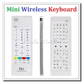 High quality Rii 2.4G Mini Wireless Keyboard Air Mouse IR Remote Audio for PC Android TV Box HTPC/IPTV XBOX360 PS3 Dropshipping