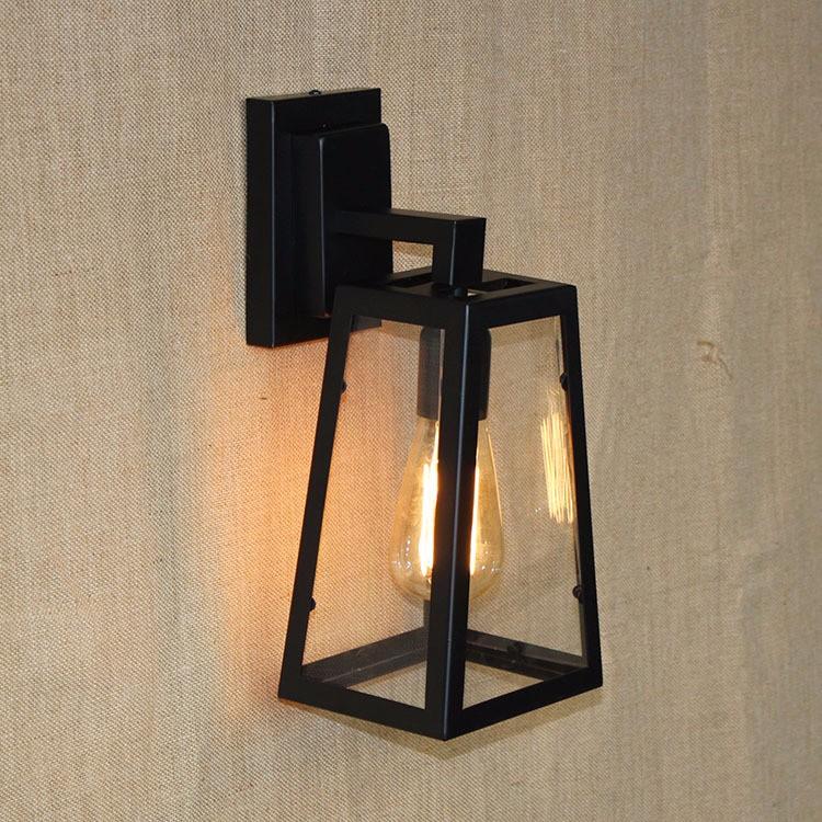 Vintage Sconce Lodge Retro Iron Wall Lamp Edison Light Industrial Lighting Fixtures, Cafe Bar Home Decor, 110V E26  or  220V E27 (11)