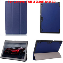 Buy lenovo tab 2 A10-30 case Magnet Stand Pu leather case cover Lenovo TAB 2 A10 30 X30F X30L tablet cases + Film protectors for $9.49 in AliExpress store
